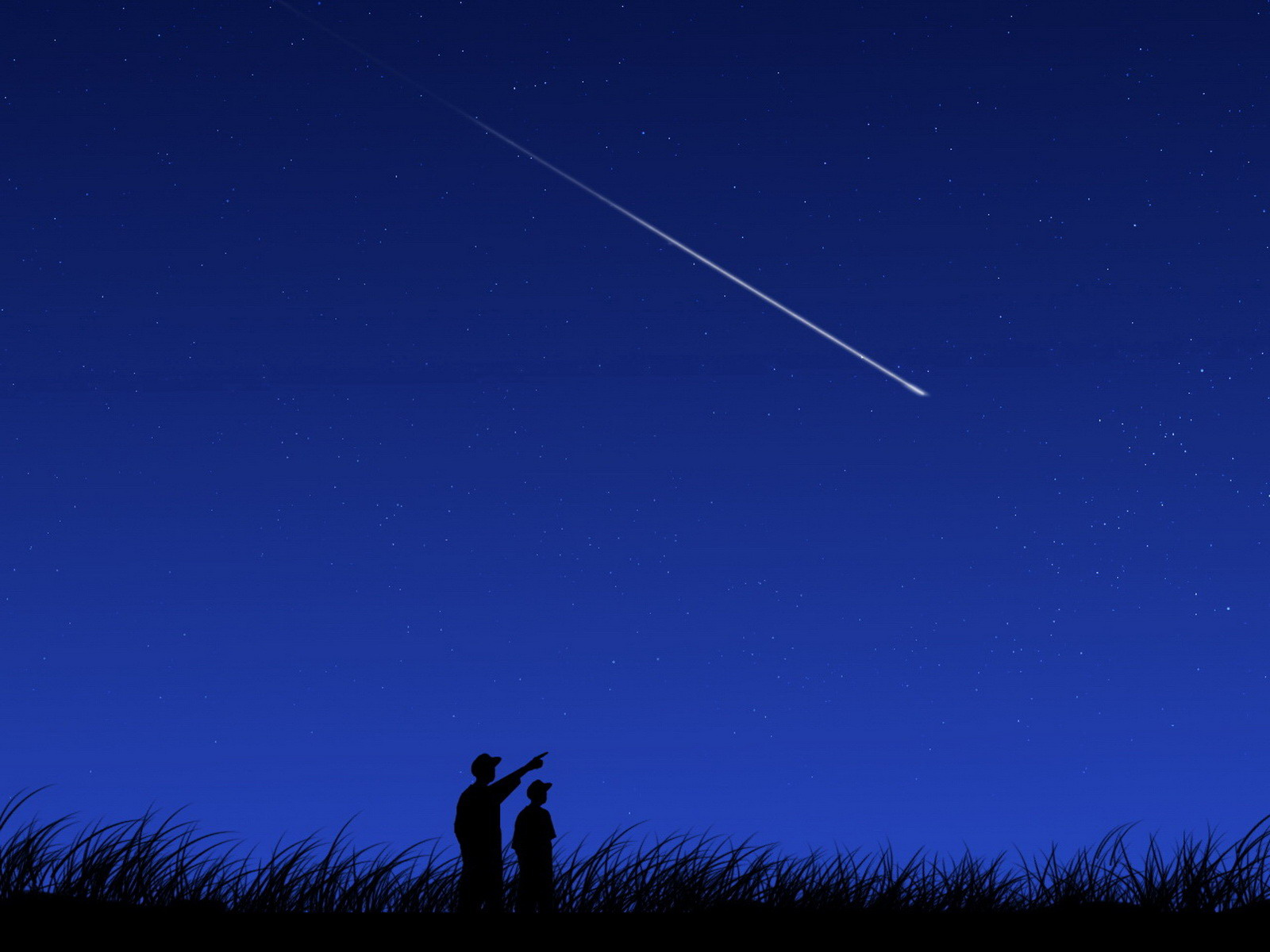 Imagen de referencia de una lluvia de estrellas